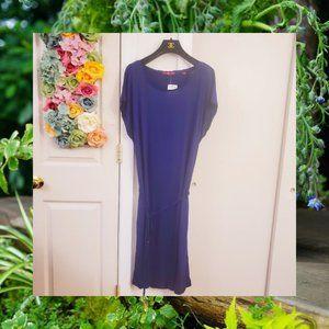 NEW S. OLIVER Navy Soft Summer Dress 14